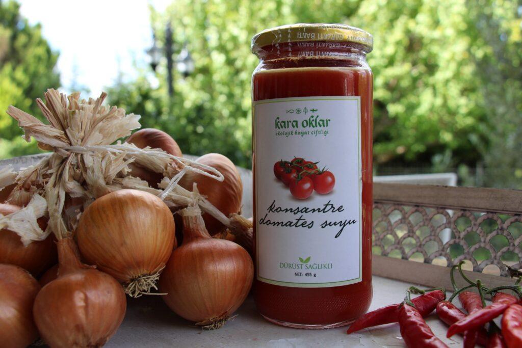 Kara oklar çiftliği organik domates suyu doğal ürün